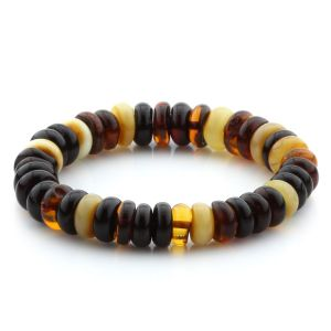 Adult Baltic Amber Bracelet Tablet Beads 11mm 14gr. MRC258