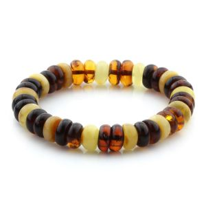 Adult Baltic Amber Bracelet Tablet Beads 11mm 11gr. MRC260