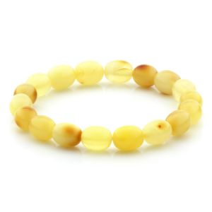 Adult Baltic Amber Bracelet Olive Beads 10mm 7gr. MRC273