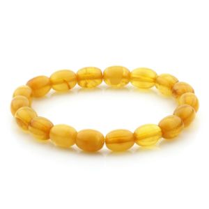 Adult Baltic Amber Bracelet Olive Beads 10mm 6gr. MRC275