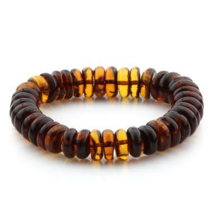 Adult Baltic Amber Bracelet Tablet Beads 11mm 19gr. MRC280