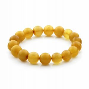 Adult Baltic Amber Bracelet Round Beads 11mm 11gr. RB35