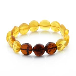 Adult Baltic Amber Bracelet Side Drill Beads 12mm 9gr. SD14