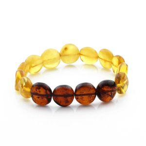 Adult Baltic Amber Bracelet Side Drill Beads 12mm 10gr. SD18