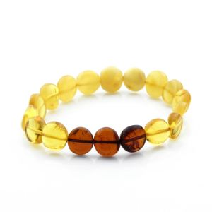 Adult Baltic Amber Bracelet Side Drill Beads 9mm 7gr. SD21