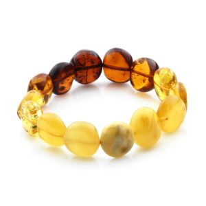 Adult Baltic Amber Bracelet Side Drill Beads 12mm 12gr. SD22