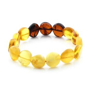 Adult Baltic Amber Bracelet Side Drill Beads 12mm 9gr. SD23