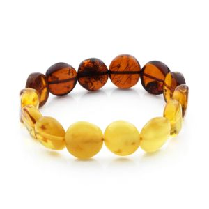Adult Baltic Amber Bracelet Side Drill Beads 12mm 11gr. SD26
