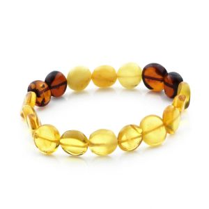 Adult Baltic Amber Bracelet Side Drill Beads 11mm 7gr. SD28
