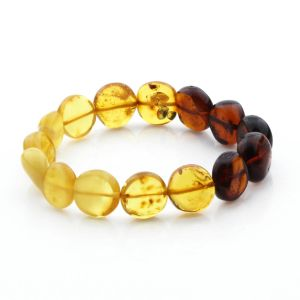 Adult Baltic Amber Bracelet Side Drill Beads 12mm 9gr. SD31