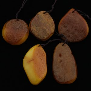 Natural Baltic Amber Pendant Set of 5pcs. 30gr. PS21
