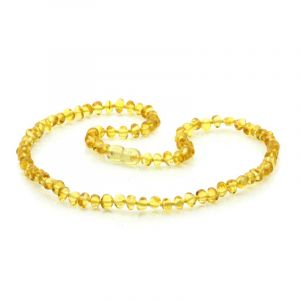Adult Baltic Amber Necklace. Baroque Yellow 5x4 mm