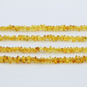"Genuine Baltic Amber Loose Beads Strand 40cm / 15,7""- Baroque 4mm. BA43MY1"