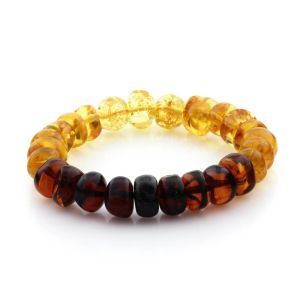 Adult Baltic Amber Bracelet Tablet Beads 11mm 13gr. TB146