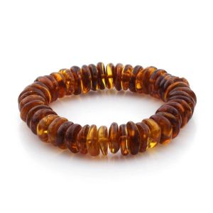Adult Baltic Amber Bracelet Tablet Beads 11mm 16gr. TB149