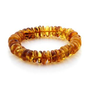 Adult Baltic Amber Bracelet Tablet Beads 11mm 17gr. TB150