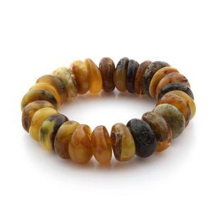 Adult Baltic Amber Bracelet Tablet Beads 17mm 34gr. TB225