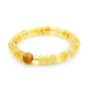 Adult Baltic Amber Bracelet Tablet Beads 8mm 8gr. TB227