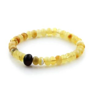 Adult Baltic Amber Bracelet Tablet Beads 7mm 6gr. TB229
