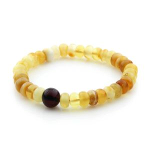 Adult Baltic Amber Bracelet Tablet Beads 8mm 8gr. TB231
