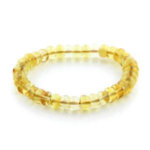 Adult Baltic Amber Bracelet Tablet Beads 8mm 7gr. TB233