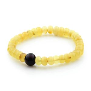 Adult Baltic Amber Bracelet Tablet Beads 10mm 7gr. TB246