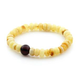 Adult Baltic Amber Bracelet Tablet Beads 10mm 7gr. TB249