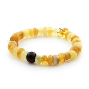 Adult Baltic Amber Bracelet Tablet Beads 10mm 8gr. TB251