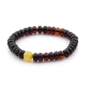 Adult Baltic Amber Bracelet Tablet Beads 9mm 8gr. TB252