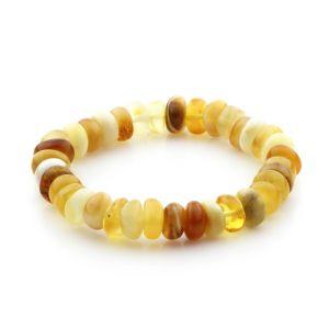 Adult Baltic Amber Bracelet Tablet Beads 9mm 9gr. TB257