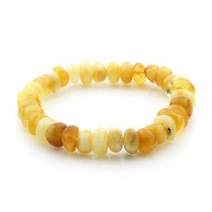 Adult Baltic Amber Bracelet Tablet Beads 9mm 8gr. TB260