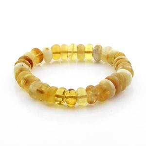 Adult Baltic Amber Bracelet Tablet Beads 10mm 12gr. TB265