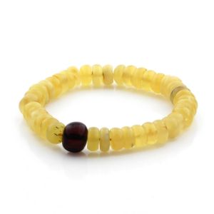 Adult Baltic Amber Bracelet Tablet Beads 11mm 10gr. TB266