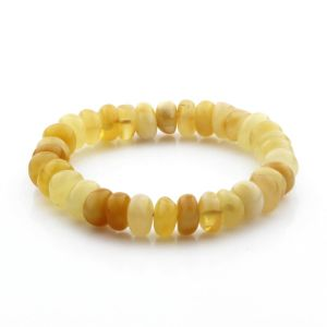 Adult Baltic Amber Bracelet Tablet Beads 11mm 11gr. TB268
