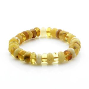Adult Baltic Amber Bracelet Tablet Beads 10mm 11gr. TB273