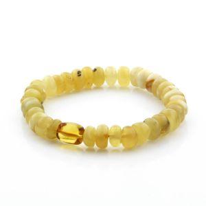 Adult Baltic Amber Bracelet Tablet Beads 11mm 9gr. TB274