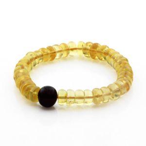 Adult Baltic Amber Bracelet Tablet Beads 11mm 10gr. TB275