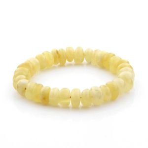 Adult Baltic Amber Bracelet Tablet Beads 10mm 11gr. TB281