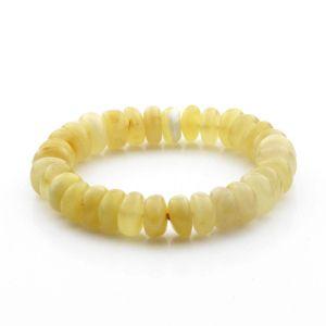 Adult Baltic Amber Bracelet Tablet Beads 11mm 13gr. TB284