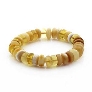 Adult Baltic Amber Bracelet Tablet Beads 11mm 13gr. TB285