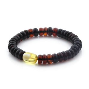 Adult Baltic Amber Bracelet Tablet Beads 13mm 9gr. TB290