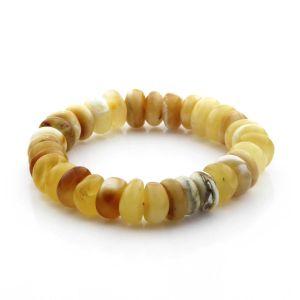 Adult Baltic Amber Bracelet Tablet Beads 11mm 16gr. TB295