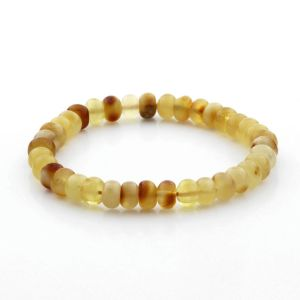 Adult Baltic Amber Bracelet Tablet Beads 7mm 6gr. TB298
