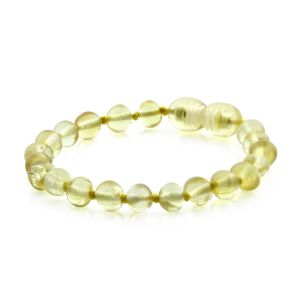 BALTIC AMBER BRACELET FOR KIDS. BAROQUE YELLOW 5X5 MM