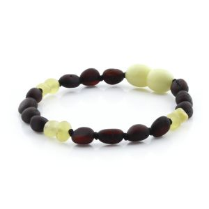 SEMI POLISHED BALTIC AMBER TEETHING BRACELET. LIMITED EDITION. BE165
