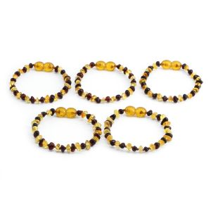 BALTIC AMBER BRACELET FOR KIDS WHOLESALE LOT OF 5PCS. LIMITED EDITION. LE359
