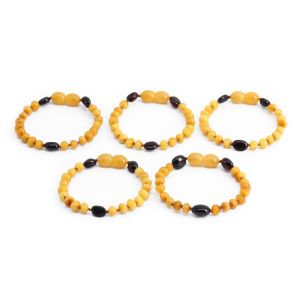 BALTIC AMBER BRACELET FOR KIDS WHOLESALE LOT OF 5PCS. LIMITED EDITION. LE369