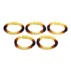 BALTIC AMBER BRACELET FOR KIDS WHOLESALE LOT OF 5PCS. LIMITED EDITION. BE183