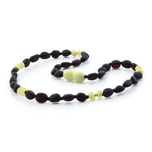 SEMI POLISHED BALTIC AMBER TEETHING NECKLACE. LIMITED EDITION. BE165