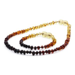 BALTIC AMBER SET FOR KIDS. BAROQUE. XB44R1